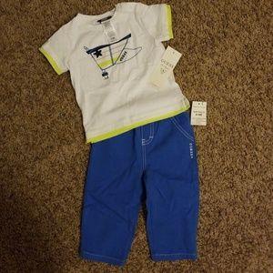 Guess shirt and pants set